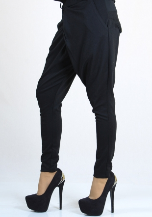 Black trousers with decorative elements RUMENA