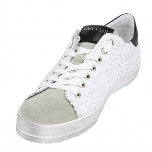 Men's white trainers with suede leather 33702