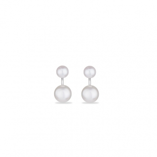 Silver Earrings with natural white pearls CA5048E Swan