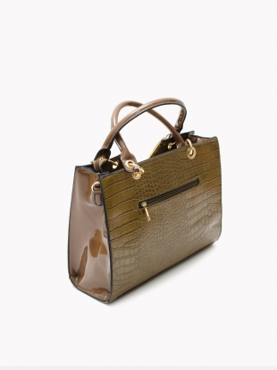 Elegant handbag coffee color 3454