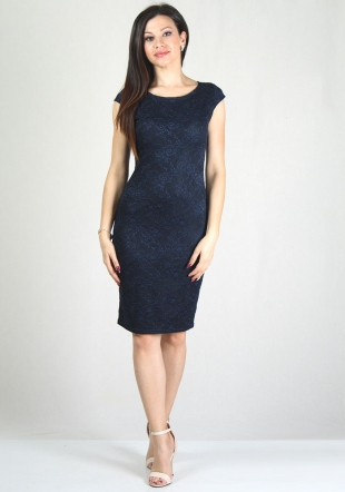 Dark blue lace dress RUMENA