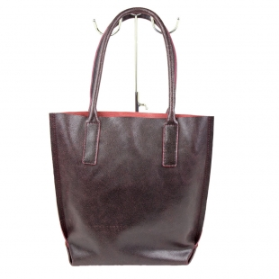 Women's burgundy leather bag 19267