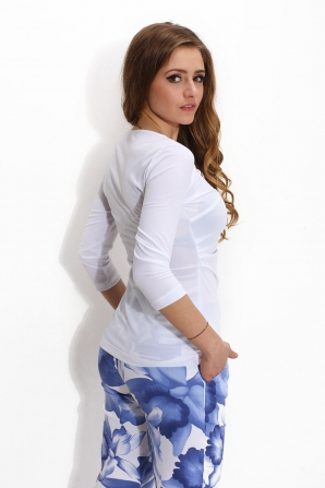 White ladies blouse with 3-4 sleeves Avangard