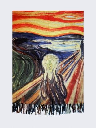 "Scarf Painting ""Vic"" by Edvard Munch 018 891"