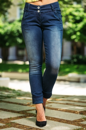 Women's jeans with cuffs Avangard