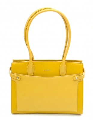 Women's yellow bag 82112