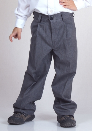 Elegant Grey Pants with Zip and Pockets  RUMENA
