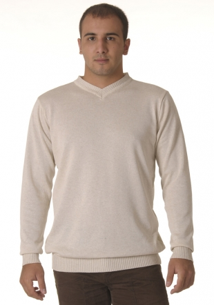 V neck ivory sweater Z09/10