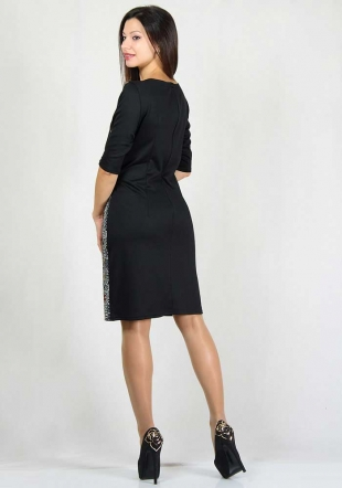 Black dress with side detail RUMENA