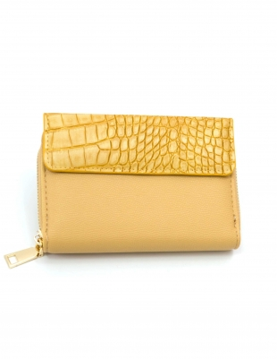 Women's yellow purse snake print 8284-3
