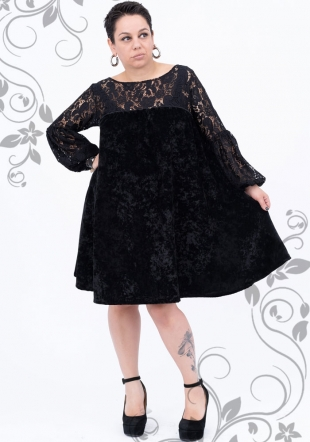 Black formal dress with lace maxi Ilina