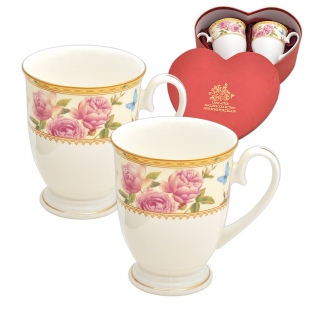 Set due cesti Roses Lace Royal Mug Lancaster