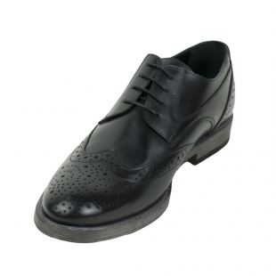 Men's black leather Oxford evening shoes 32544