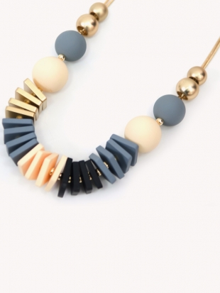 Women's gray necklace 1025-70