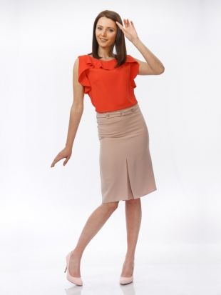 Women's skirt in powder color with bad 52001-701