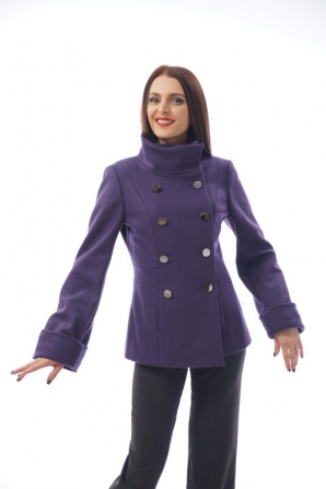 Women's short coat in purple Radeks