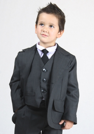 Boys ocasion blazer in dark grey or black RUMENA