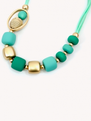 Women's green necklace 1025-53