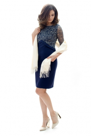 Ladies dress with lace and gold thread 71916-400-472
