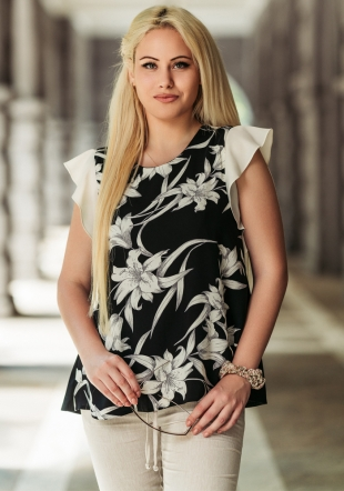 Women's blouse with ruffles on the sleeves and lining Avangard