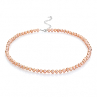 Fresh water pink pearls necklace 5,5-6mm R0435NR Swan
