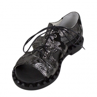 Women's camouflage leather sandals 33906