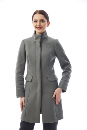 Elegant straight women's coat with pockets Radeks