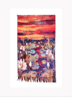 """Scarf picture - """"Water Lilies"""" by Claude Monet 1814"""