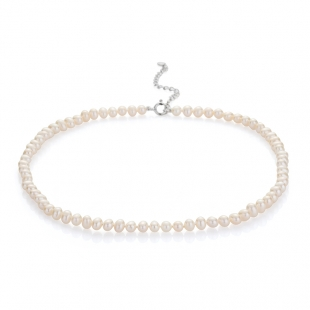 Fresh water pearl necklace 5,5-6mm R04356NW Swan