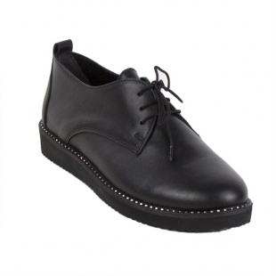 Shoes black leather 970-nero