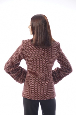 Women's short coat in pipette burgundy Radeks