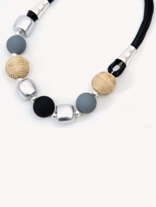 Women's gray necklace 1025-61