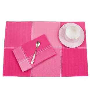Cotton Mats And Napkins Set In Pink Hues Lancaster
