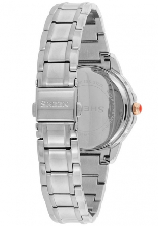 Дамски часовник Casio SHE-3034D-7AUER - с кристали SWAROVSKI