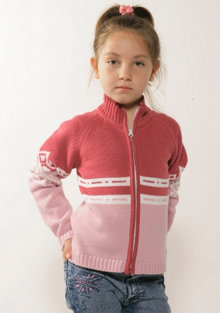 Girls sweater with zip-Z-06/07