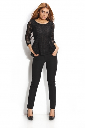 Tunic of lace in black color