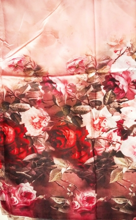 Scarf of flowers roses 10110