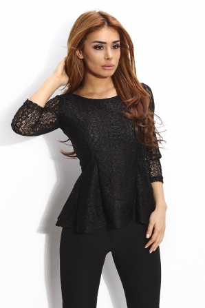 Lace tunic with open back