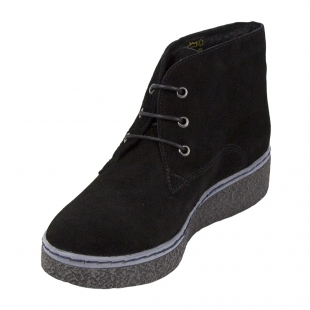 Ladies black suede leather clarks with warm lining 32814