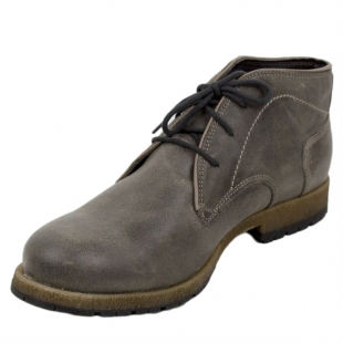 Men's grey leather boots with warm lining Josef Seibel 20568