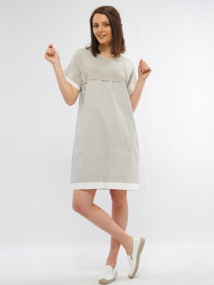 Women's sports dress in beige 8240-1