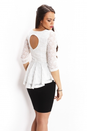 White lace tunic with attractive back