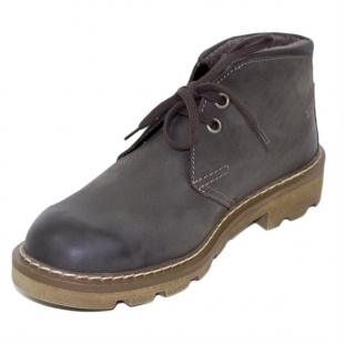 Men'sgrey leather boots with warm lining Josef Seibel 20570