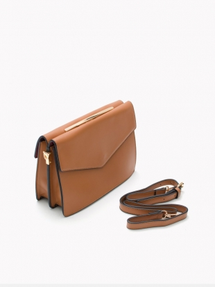 Small brown bag with gilt handle ST-712-M-1
