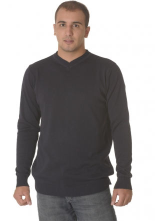 V neck Dark blue sweater Z09/10