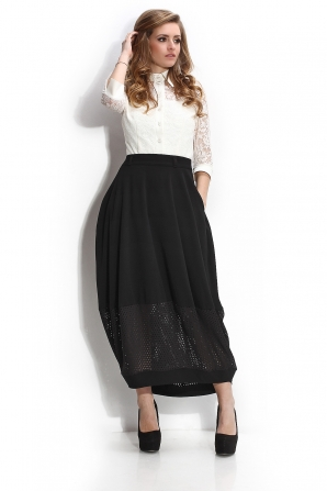 Women's long skirt with perforated band Avangard