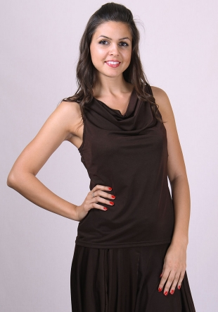 Brown sleeveless top RUMENA