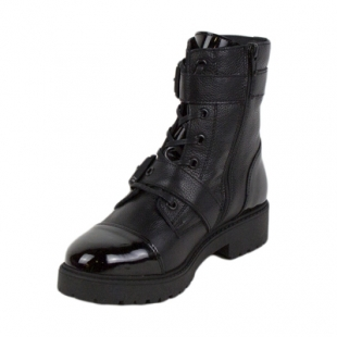 Ladies black boots with buckles Mona36