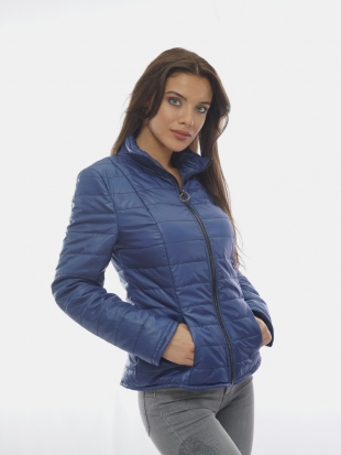 Ladies sport-elegant jacket in blue 11901 / P11