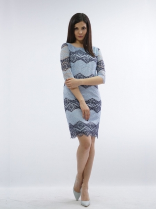 Women's lace dress in blue 71832-471
